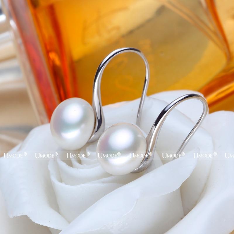 UMODE Mote ekte naturlig ferskvann perle øredobber 925 sterling - Fine smykker - Bilde 6