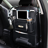 Stowing Tidying Car Back Seat Organizer Beverage Food Storage Bag Container Tablet Phone Holder Interior Accessories