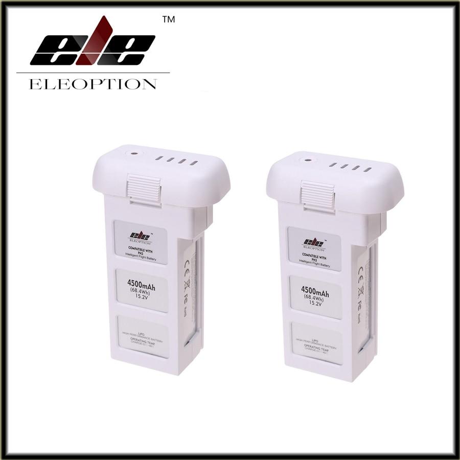 2 pcs Eleoption 15.2V 4500mAh 4S Intelligent Flight Battery For DJI Phantom 3 & Phantom 3 Standard аккумулятор dji battery lipo 15 2v 4480 mah 4s for phantom 3