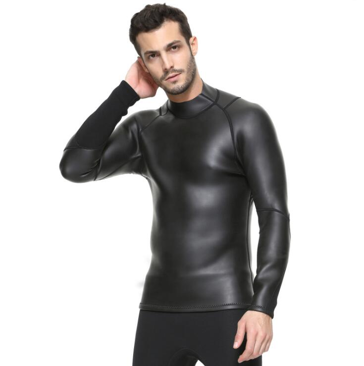 3MM bare leather diving suit male split long sleeve ...