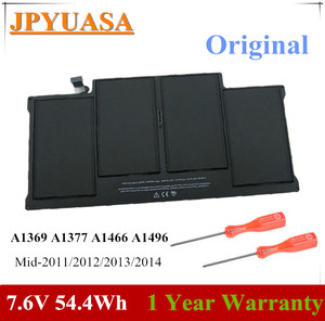 7XINbox 7.6V 54.4Wh A1496 A1466 Laptop Battery For Apple MacBook Air 13