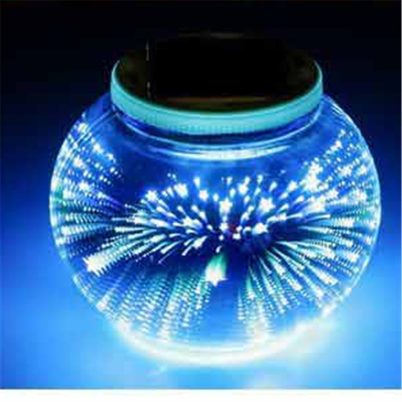 Motion Sensor LED Solar Panel RGB Firework Night Light Garden Outdoor Waterproof Home Lamp 3D Landscape Villa Garland Decor