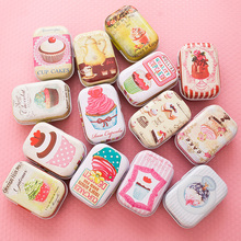 32Pcs/Set Cute Cake Pattern Collectables Jewelry Coins Storage Box Sundries Jars Wedding Gift Cans Small Candy Tea Mini Tin Box