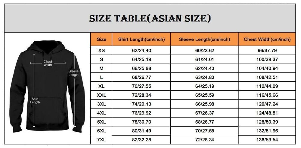 亚洲尺码表-连帽