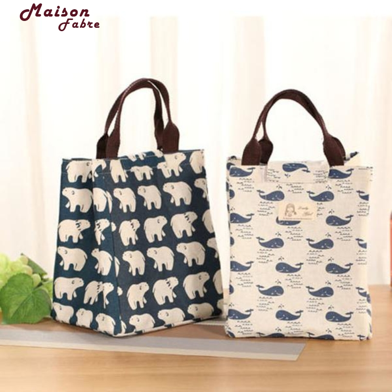 New Fashion Portable Lunch Bag Pouch Storage Box Insulated Thermal Bento Cooler Picnic Tote High Quality For Women Kids Men