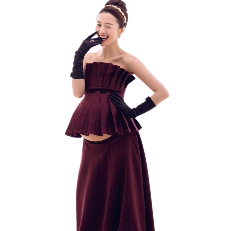 все цены на RQ 2017 Royal Style Maternity Lace Dress Pregnant Photography Props Pregnancy maternity photo shoot long dress Q85
