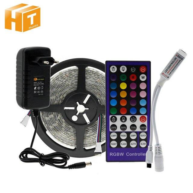 LED Strip RGB / RGBW / RGBWW LED Strip Light 5050 5m + IR Remote Controller + DC12V Power Adapter