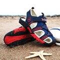 Große Kind Jungen Sandalen Neue Designer Kinder Wohnungen Atmungs Arch Unterstützung Sport Sandalen Für Jungen Closed Toe Strand Jungen Sandalen-in Sandalen aus Mutter und Kind bei