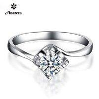 ANI 18K (Au750) White Gold Engagement Ring 0.2 CT Certified Round Diamond Women Wedding Real Diamond Jewelry Customized Design