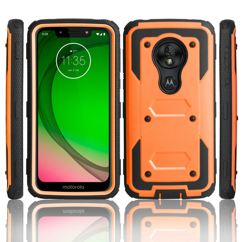 For Motorola Moto G7 Plus Armor Case Shockproof Belt Clip Holster Hard Cover G7 Play Usa Version G7 Power Usa Version Phone Case Covers Aliexpress