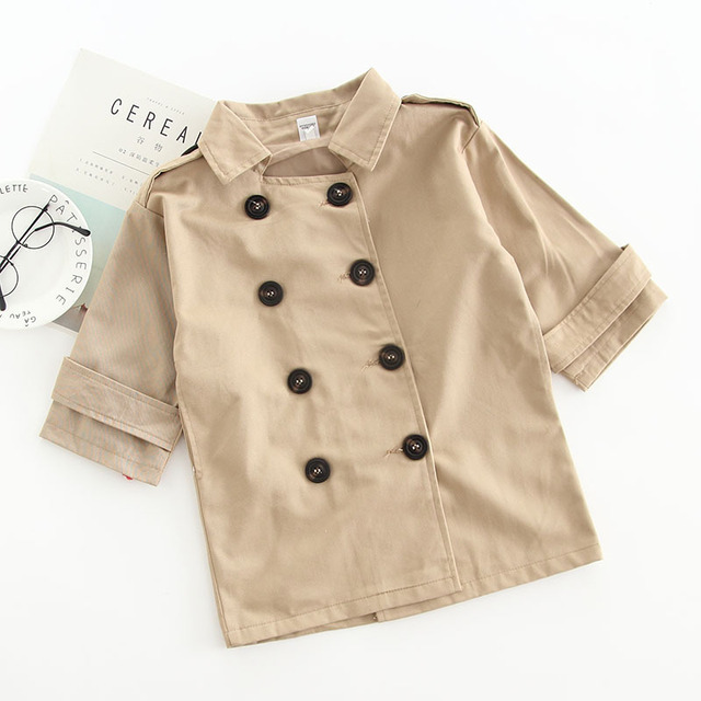 1ec2964d0 Baby Trench Coats 2018 New Fashion Spring Autumn Double Breasted ...