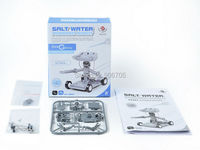 Salt Water Powered Robot Kit Green Science Fair Recycle Craft Science Gift Brine Electricity Energy Assembled