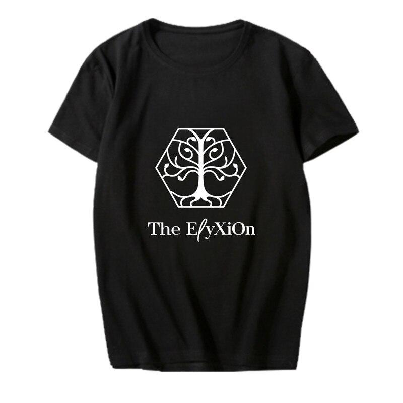 KPOP Korean Fashion EXO Planet 4 The ElyXiOn Album Concert Cotton Tshirt K-POP T Shirts T-shirt PT651