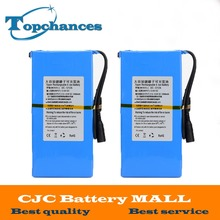2PCS High Quality Newest Super Rechargeable Portable Lithium-ion Battery DC 12V 12000mAh DC1212A With Plug