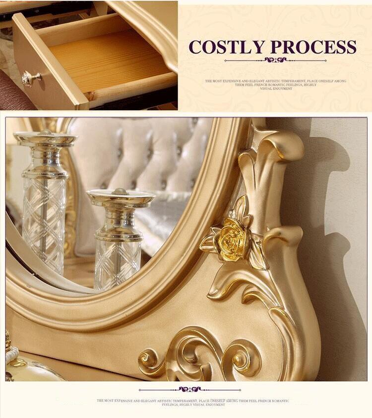 Высокое качество кровать Мода Европейский Французский резные кровати тумбочки p10069