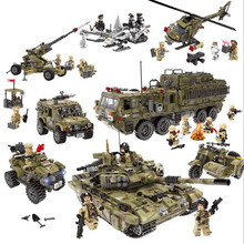 WW2 Army Series Helicopter Tank Set Digital Block Special Police Compatible with World War II Childrens Toys Educational Gifts