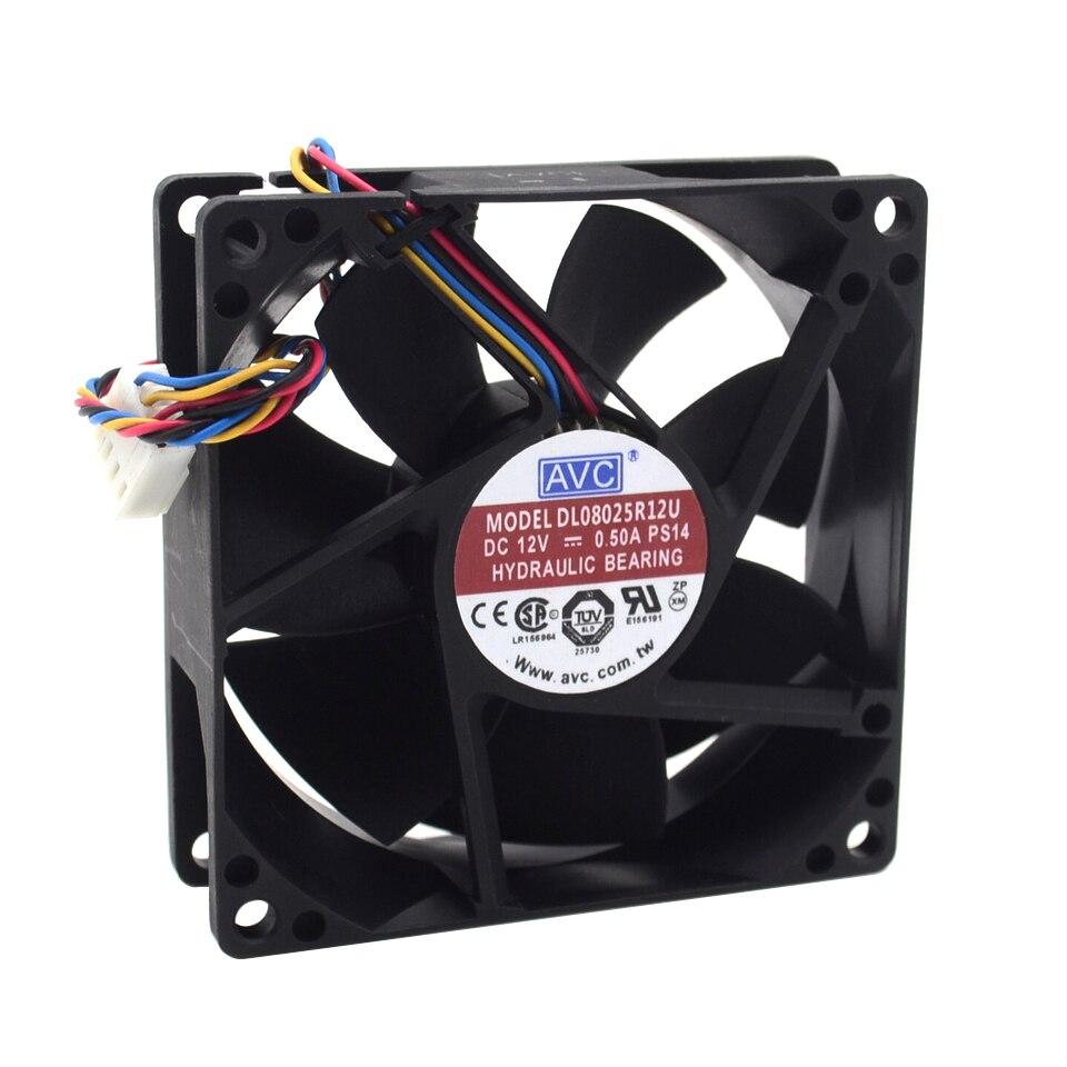8025 8cm 80mm capacidade do vento 12v 0.5a dl08025r12u pwm inteligente ventilador de refrigeração controle de velocidade 80*80*25mm