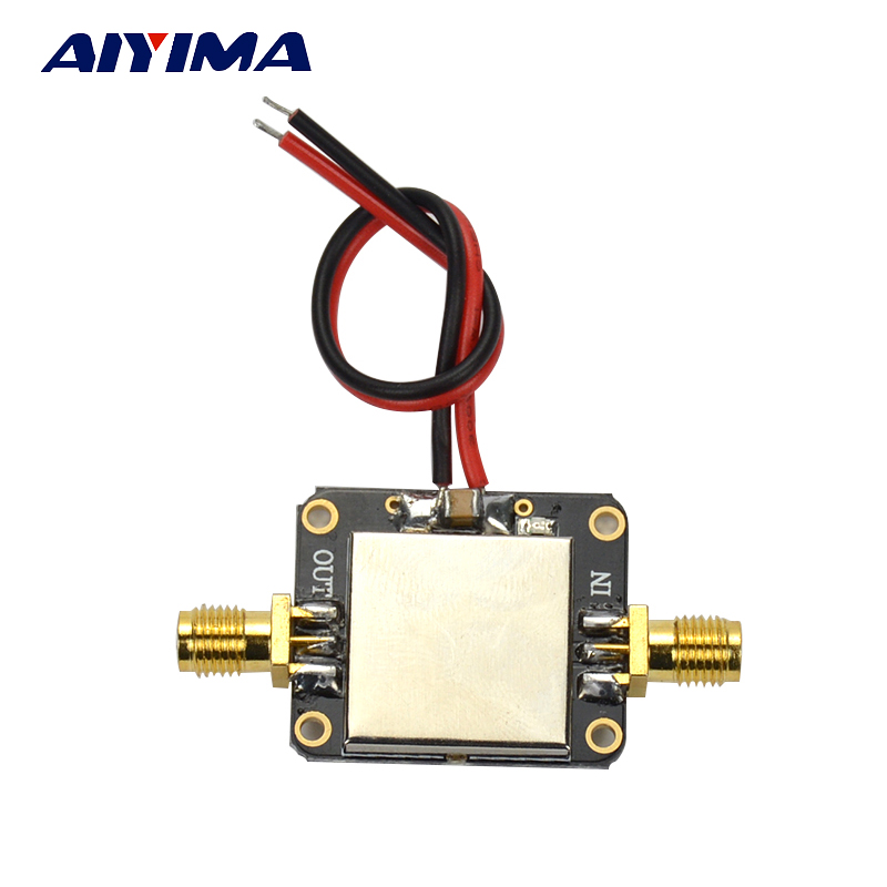 Aiyima 0.01-2000 MHz 2 GHz LNA RF amplificador de bajo ruido módulo VHF/UHF ganancia 32dB