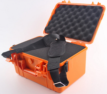 357*269*187MM Waterproof tool case toolbox protective Camera Case Instrument box suitcase Impact resistant with pre-cut foam  ip67 waterproof shockproof black compressive durable toolbox with full cubes foam inserts