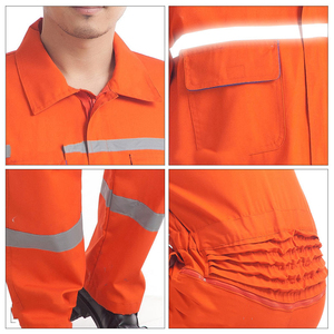 Image 5 - Woman men work overalls working uniforms spring thin section Reflective Coveralls welding car workshop mechanic PlusSize clothes