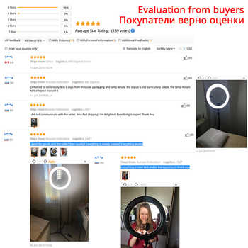 18 Inch Ring Light Dimmable 5500K LED Ring Lamp With Tripod ringlight Studio Photo Lamp For Photography Light Ring YouTube Live