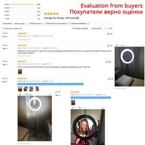 Image 5 - Кольцевой светильник samtian, 18 дюймов, кольцевой светильник со штативом, зеркало для макияжа, крепление для телефона, кольцевые лампы с регулируемой яркостью, 5500K, кольцевой светильник на Youtube
