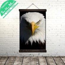 Лучший!  Орел Белая Голова Свиток Живопись Холст Старинные Плакат и Печать Wall Art Pictures Гостиная Спальня