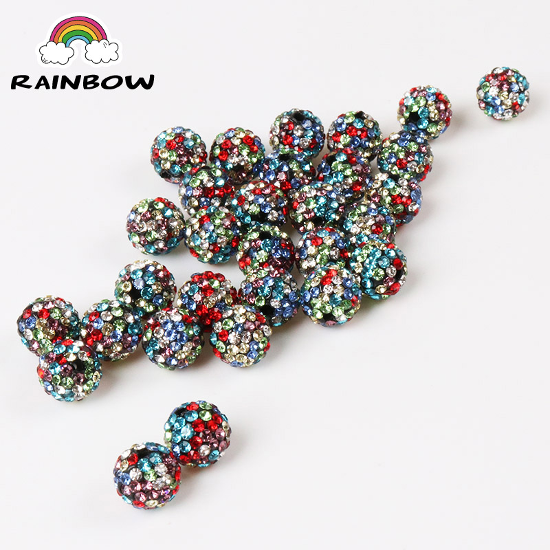 Beads & Jewelry Making 50pcs 10mm 33colors Shamballa Beads Crystal Disco Ball Beads Shambhala Spacer Beads Shamballa Bracelet Crystal Clay Beads 100% High Quality Materials