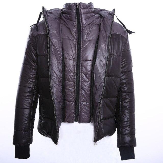 Hot Sale 2016 New Men's Winter Jacket Men Hooded Wadded Thicken Winter Coat Men Casual Slim Pure Color Outwear Parka Men S-3XL