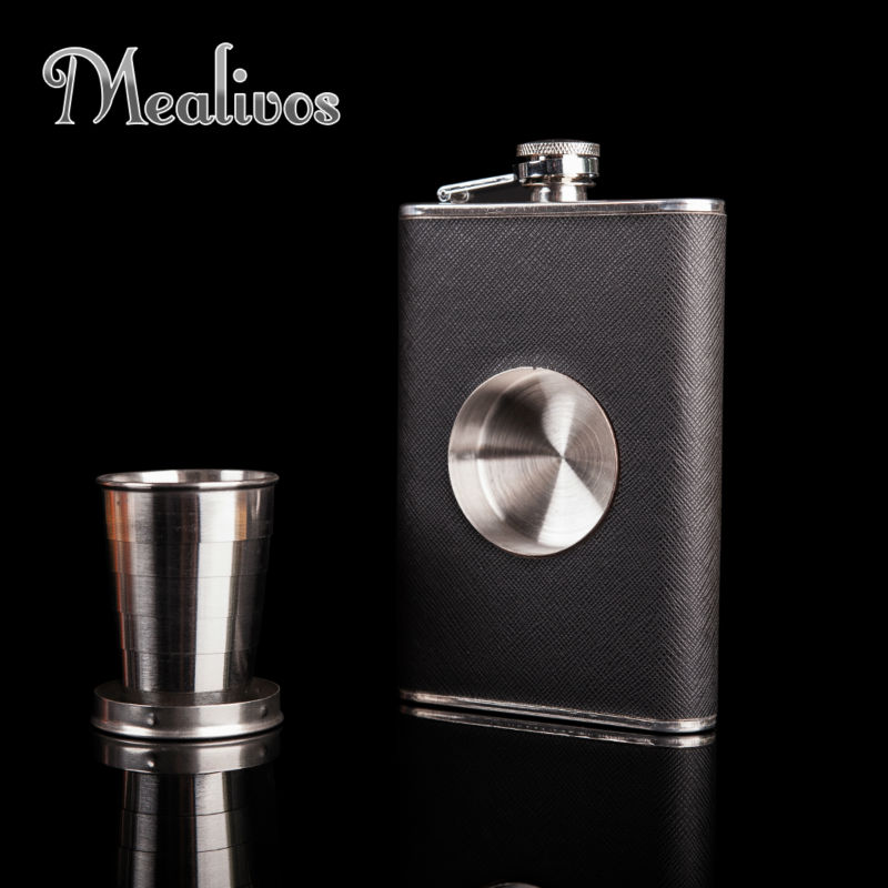 Hot Sale personality SHOT Flask 1pc 8 oz Food Grade Stainless Steel Hip Flask drinkware Alcohol