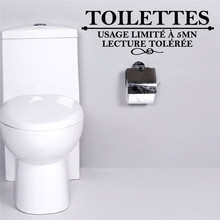 French Toilettes Quotes Wall Stickers Washroom Bathroom Toilet Decoration Sticker Decal Art Home Decor