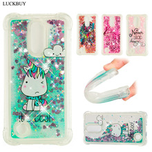 LUCKBUY For LG K4 K8 K10 2017 Case Luxury Dynamic Glitter Liquid Soft Phone for Anti-knock Back Cover