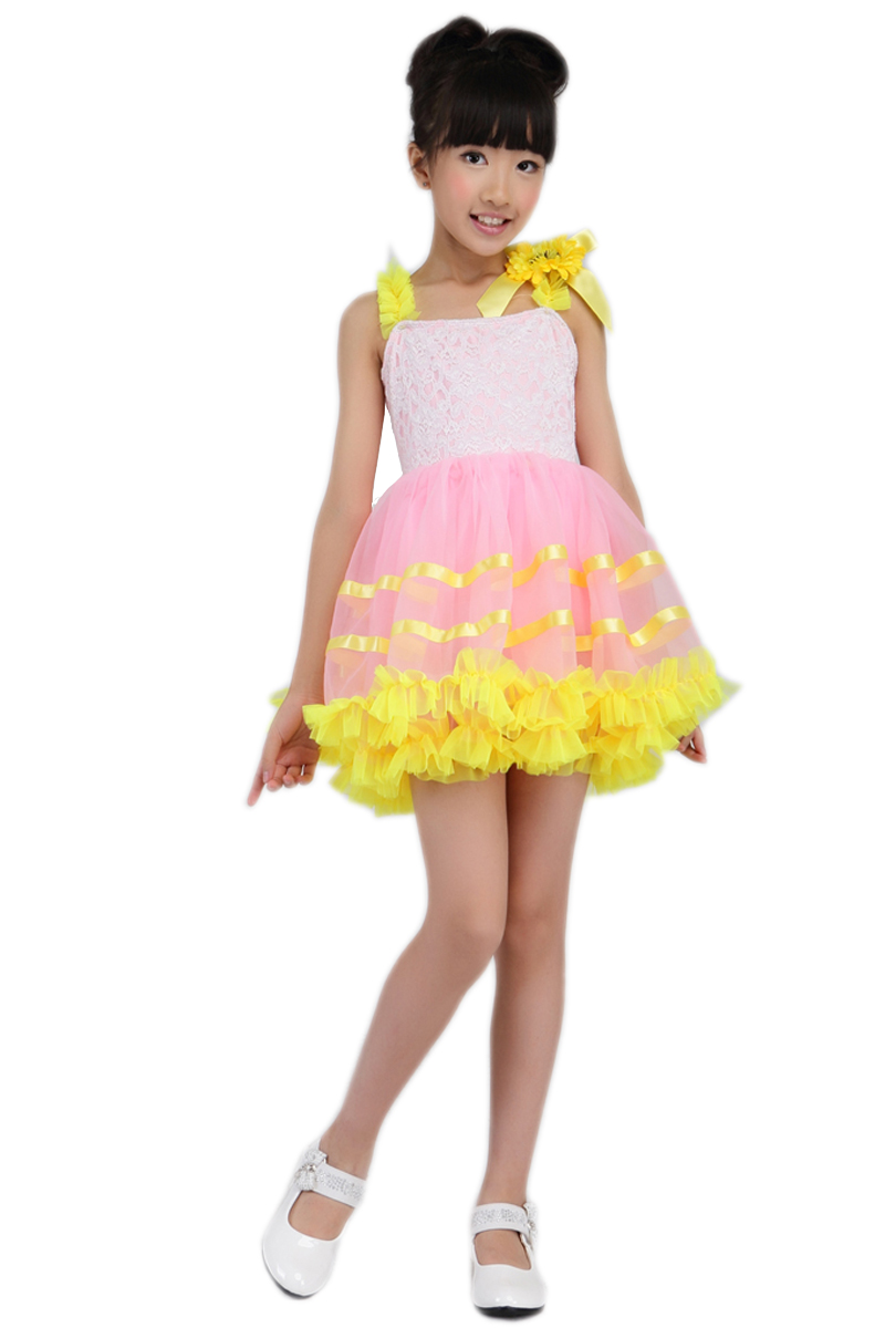 Yellow Girls Professional Ballet Tutu Child Costume Ballet Dress for Children Girls Dancewear