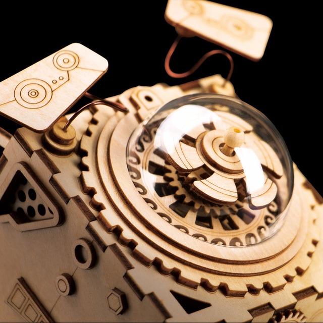 Robotime 3D Puzzle DIY Movement Wooden dogs Model toys for Children girl boys brain training Music Box Seymour AM480