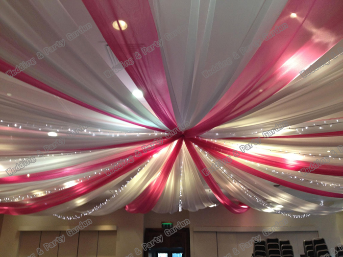 12pcs/lot 10mx0.7m Wedding Ceiling Draper Canopy Drapery colour ...