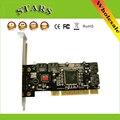 Portas Serial ATA Host Controller Card PCI para Sata Interno 4 porta Sil3114 Chipset 013577 com 2 Cabos Sata para computador PC