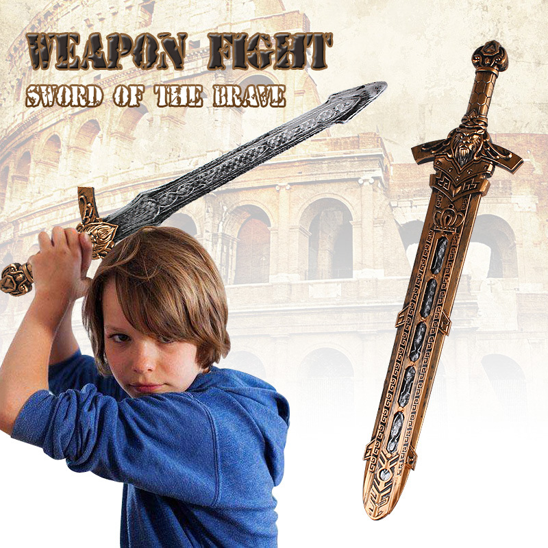 Bronze Weapon Simulation Bow Sword Creative Model Children's Toys Weapons Cosplay Sword Knight 1555