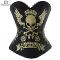 Miss Moly Womens Gothic Clothes Corset Bustier Halloween Party Burlesque Stempunk Corsets Waist Trainer Corselet S M L XL 2XL