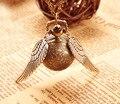 Гарри поттер Snitch Смотреть Ожерелье Шеи галстук Стимпанк Квиддич Крылья Часы Подарок для детей Косплей Творческие подарки