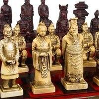 Coleção antiga escultura de osso de xadrez