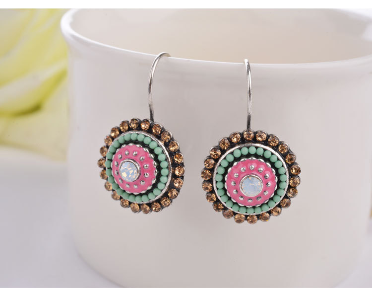 Greenbeads Crystal Statement Stud Earrings Ho40tKulc