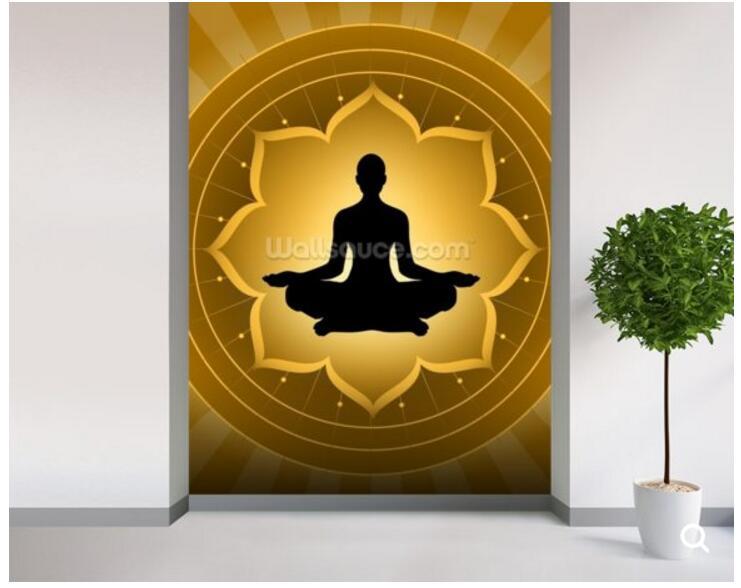 Custom Buddha Wallpaper Yoga Meditation On Lotus Fresco Wall For The Living Room Sofa Corridor Decorative Papel De Parede Buddha Wallpaper Papel De Paredepapel De Aliexpress