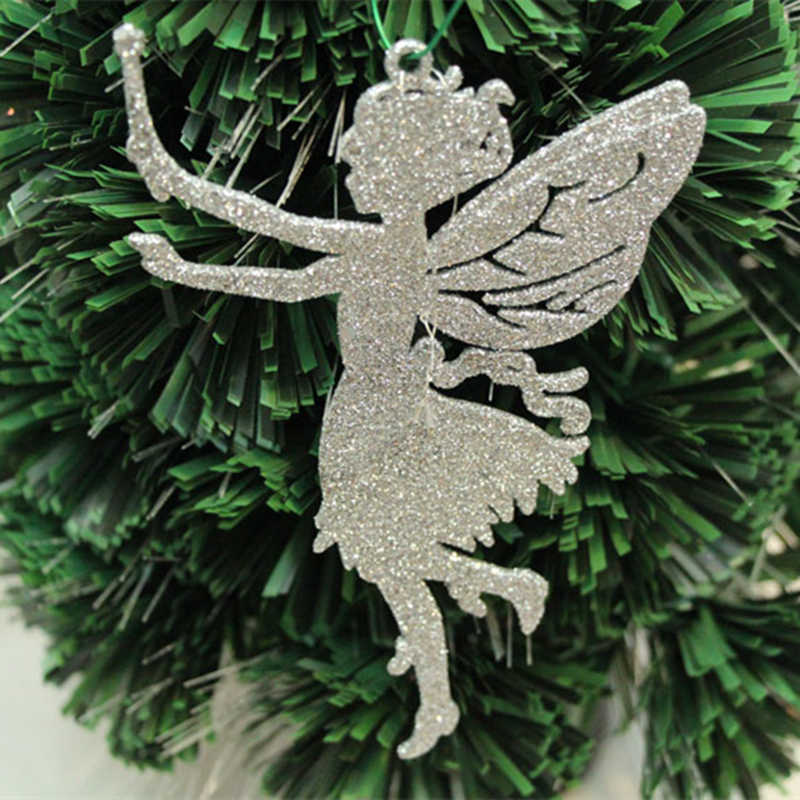 Angel Shaped Christmas Tree.1pc Christmas Tree Decorations Supplies Size 14x9cm Angel Shaped Christmas Decoration Powder Christmas Tree Pendant Adornments