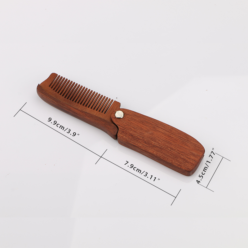 HAWARD RAZOR Men's Folding Beard Comb Sandalwood Beard Grooming & Trimming