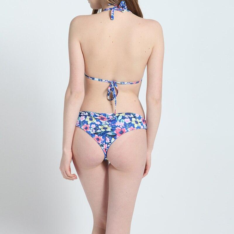 ZTVitality Estampado floral de malla Patchwork Sexy Push Up Bikini - Ropa deportiva y accesorios - foto 3