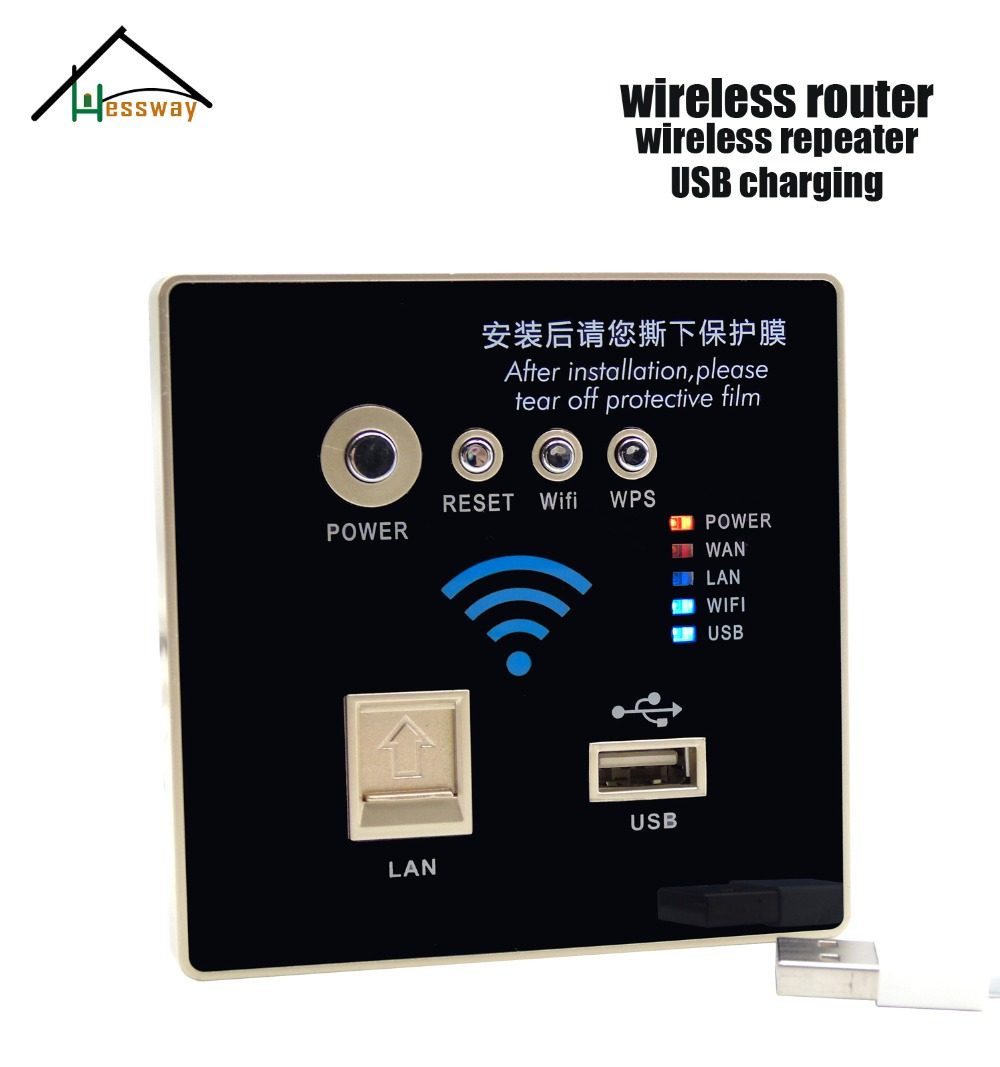 Wall Embedded 300Mbps Socket 3G Wifi Wireless AP Router USB Charger AC 110V~240V ap router 150 mbps indoor wall embedded wireless wifi router repeater 3g 5v 2a usb charger socket panel with switch lan rj11 usb