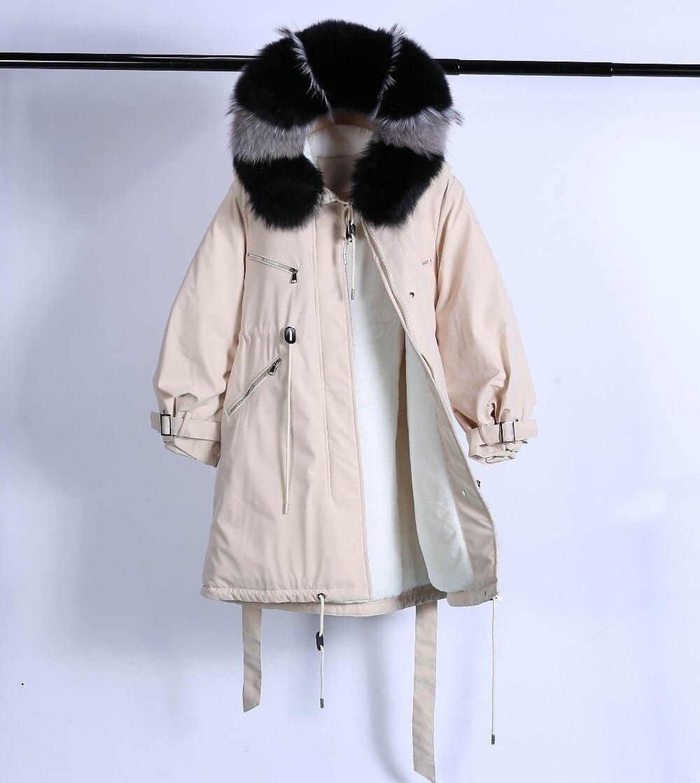 Large Natural Raccoon Fur Winter Jacket Women Hooded 19 Long Parkas For Female Thick Slim Down Winter Coat Women Waterproof 44