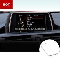 Interior Center Console GPS Navigation Cover Trim For BMW 1 Series F20 2012 2016