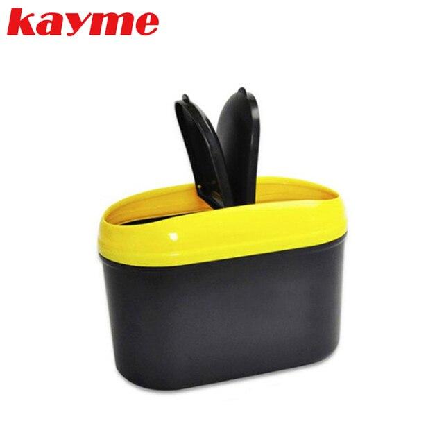 Kayme высокое качество автомобиль организации аксессуары универсальный автомобилей trash can мусора пыли автомобиль мусорное ведро сумка