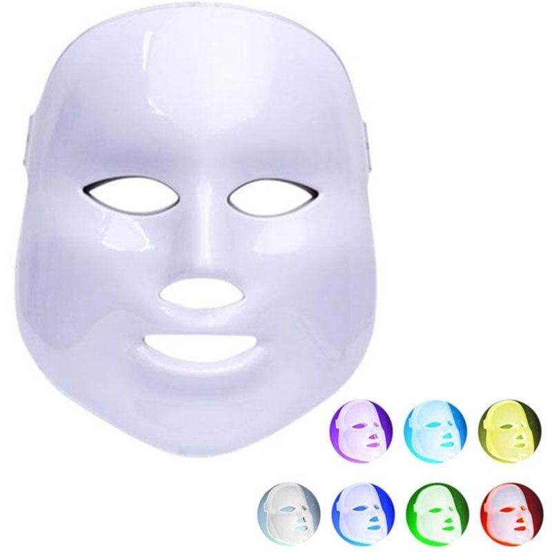 PDT photon led facial mask 7 colors led light therapy skin rejuvenation wrinkle removal facial led